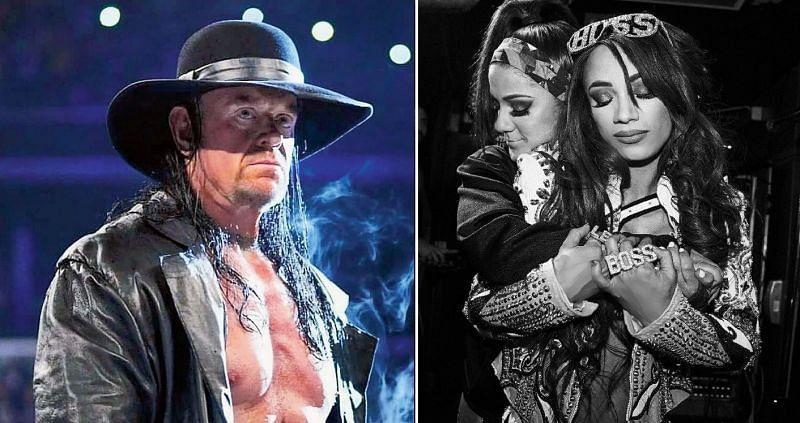 The Undertaker and Sasha & Bayley
