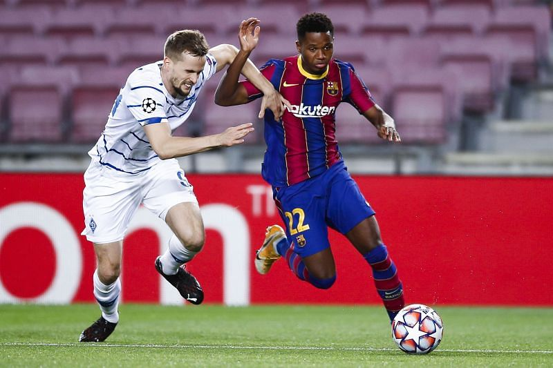 Ansu Fati in action against Real Betis