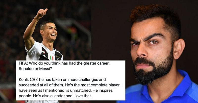 Virat Kohli has always been a huge admirer of Cristiano Ronaldo