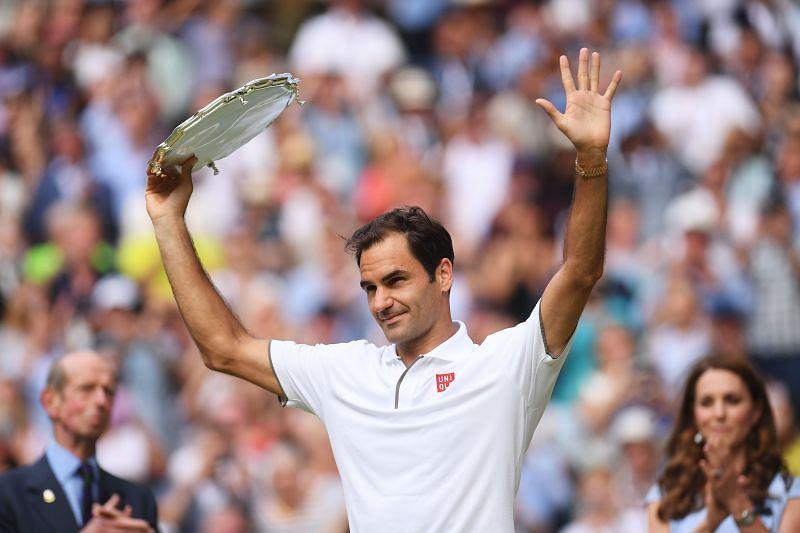 : Roger Federer at Wimbledon 2019