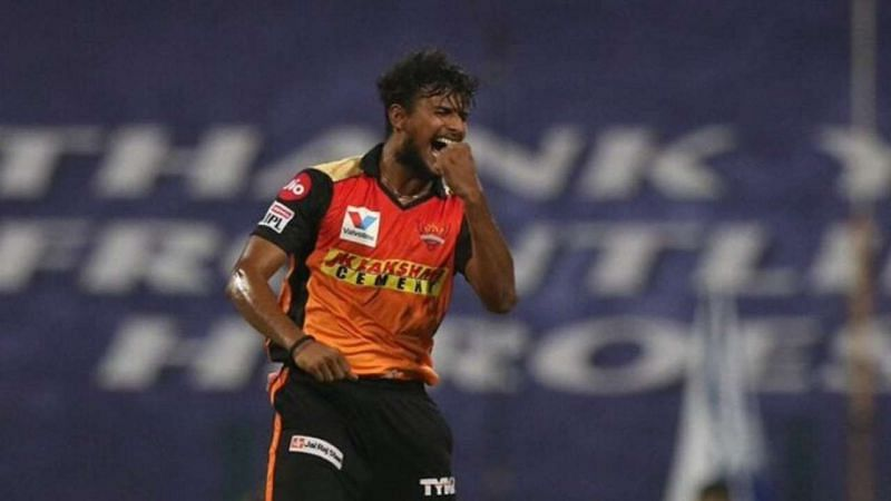 T Natarajan in IPL 2020. Photo source: DNA India