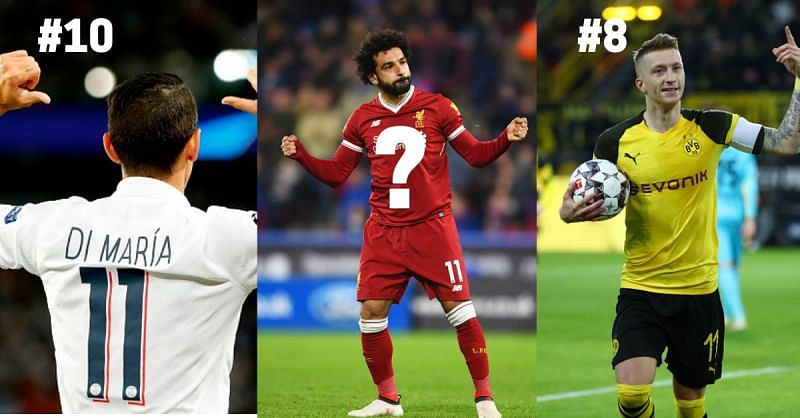 Some amazing players like Salah, Reus, and Di Maria have donned the number 11 jersey