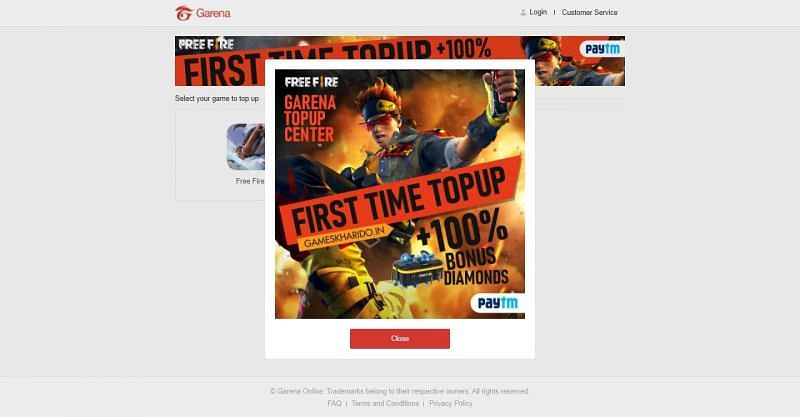 The official website of Garena Free Fire