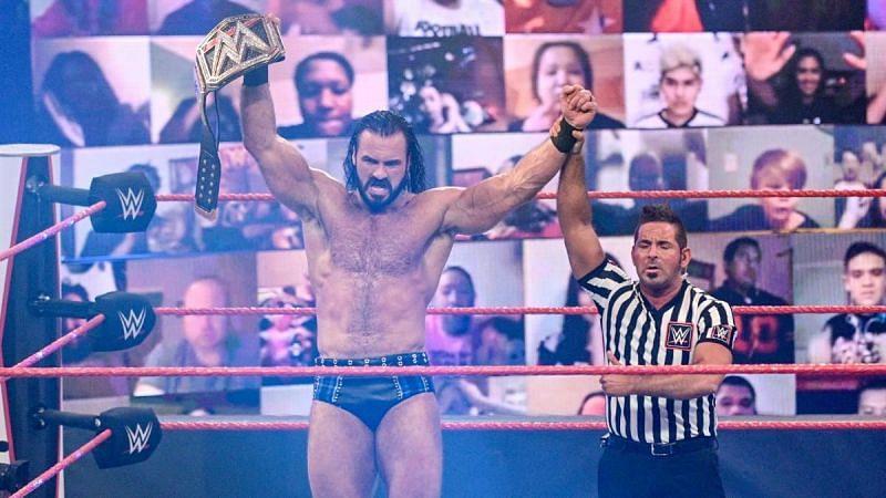 ड्रू मैकइंटायर इस हफ्ते Raw में रैंडी ऑर्टन को हराकर नए WWE चैंपियन बने।