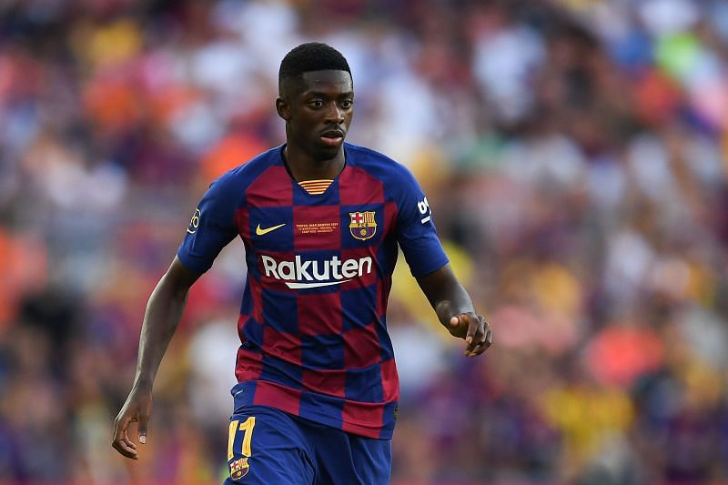 Dembele opened the scoring for Barcelona.