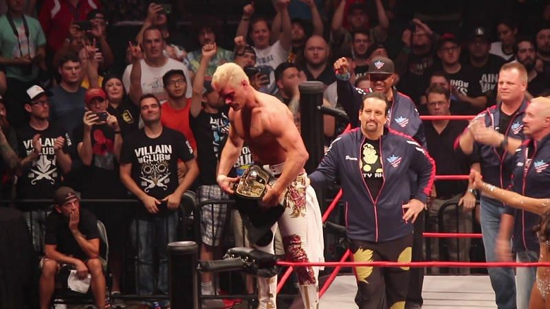 Cody Rhodes with the NWA Championship