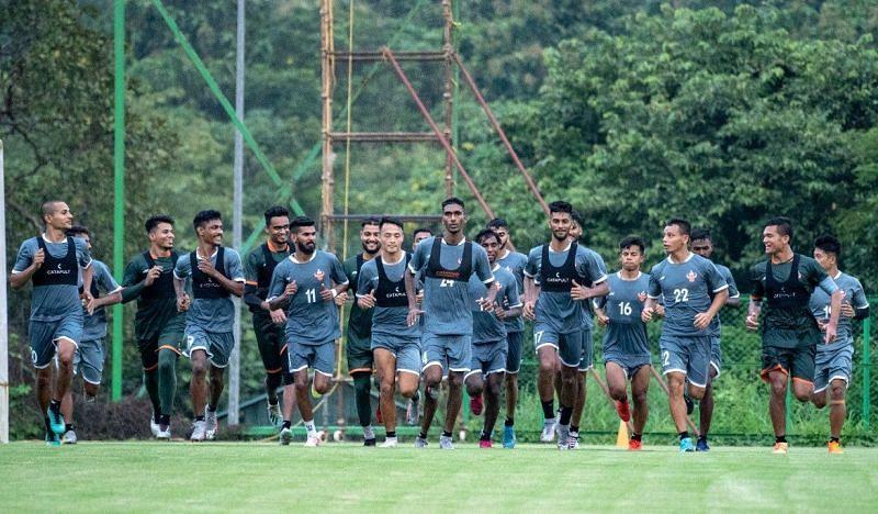 FC Goa players training
