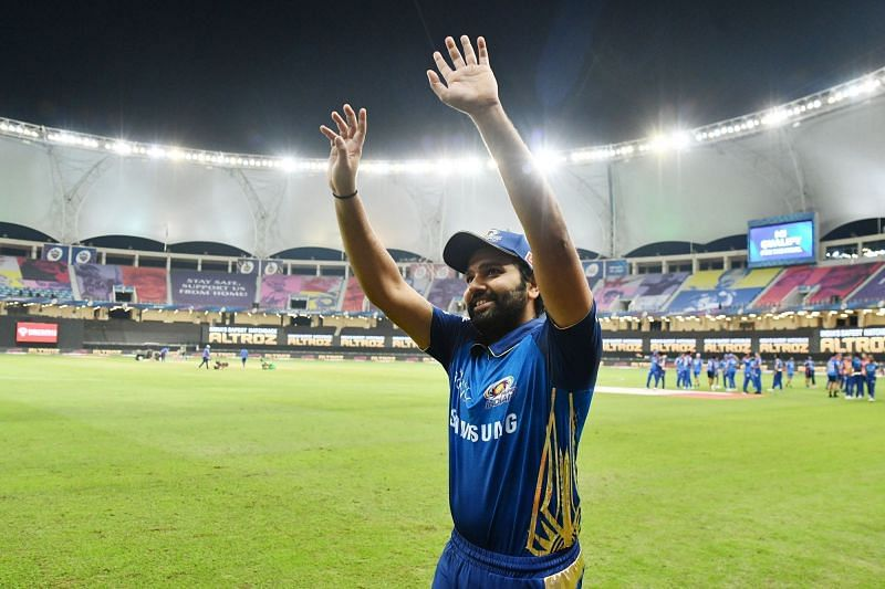 Rohit Sharma looked much happier post-match than post-dismissal. [PC: iplt20.com]