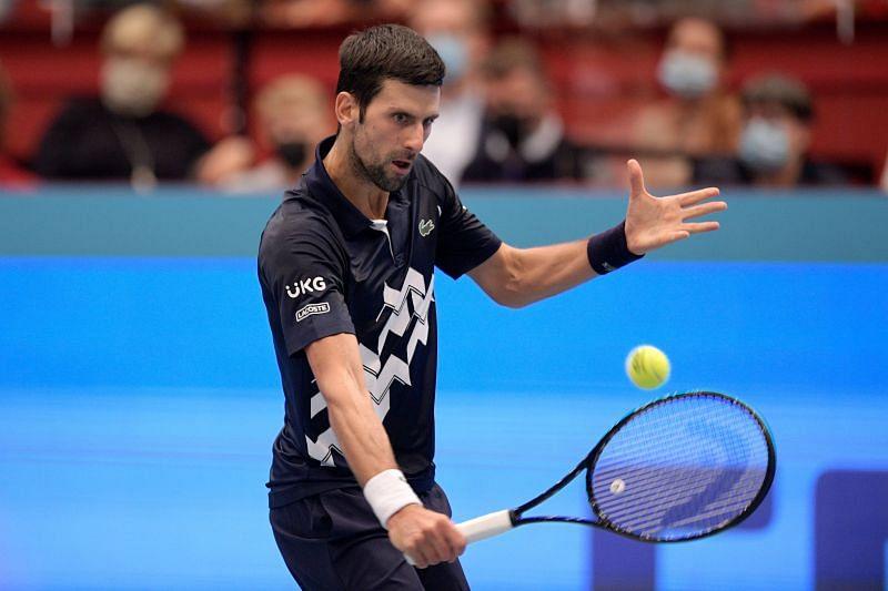 Novak Djokovic at the Erste Bank Open in Vienna, Austria.