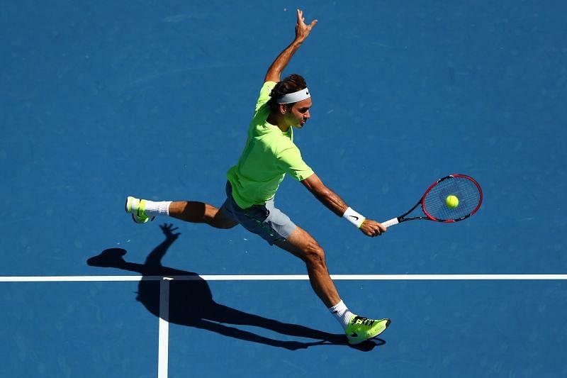 Roger Federer at the 2015 Australian Open
