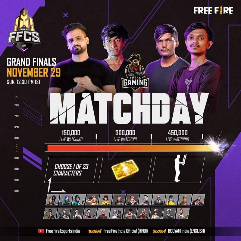 Free Fire  Continental Series: एशिया ग्रैंड फाइनल्स