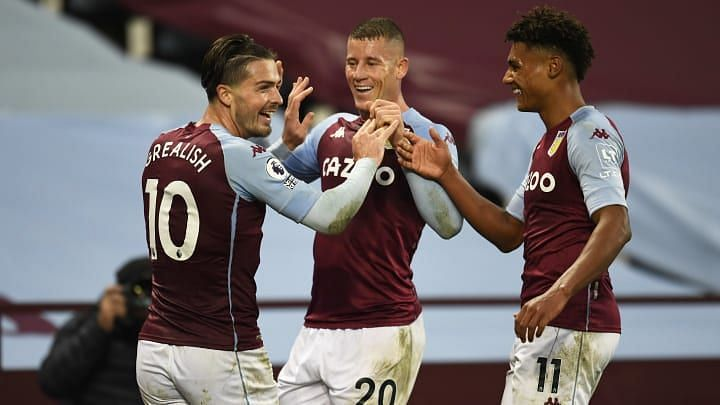 Grealish(L) has formed a great relationship with Barkley(C) and Watkins(R).