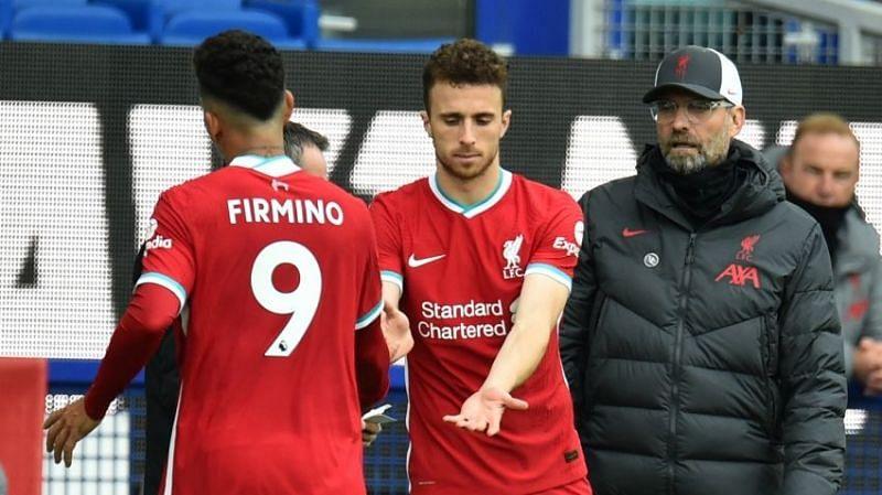 Jurgen Klopp started Roberto Firmino and Diogo Jota both against Manchester City