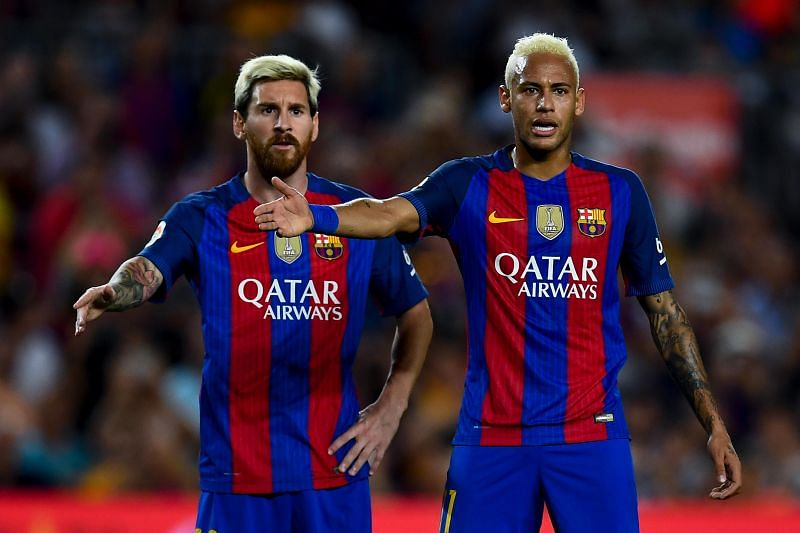 Neymar could potentially replace Lionel Messi at Barcelona