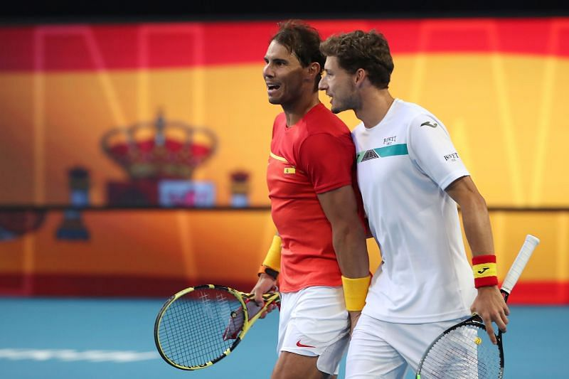 Rafael Nadal and Pablo Carreno Busta