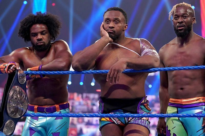 The New Day after being split up during the WWE Draft