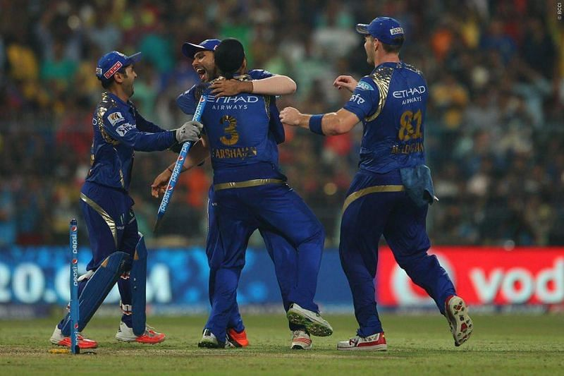 MI beat arch-rivals CSK in 2015 to win their 2nd title.
