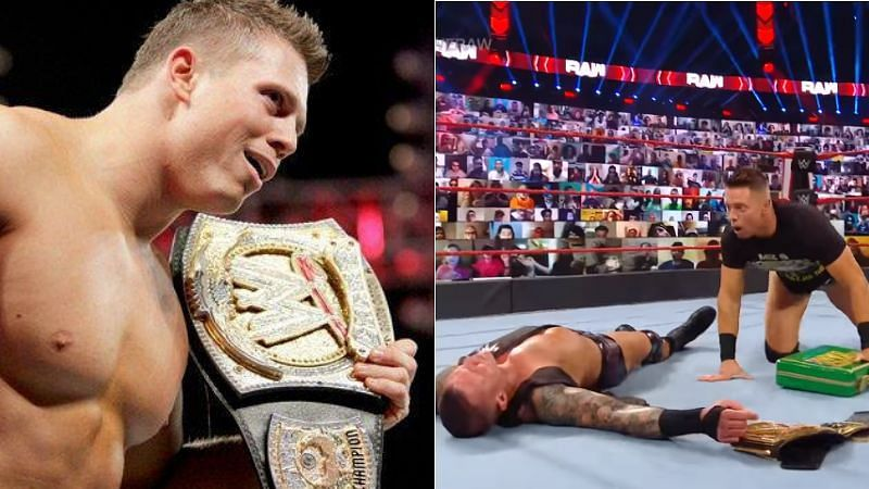 The Miz (left); Randy Orton and The Miz (right)