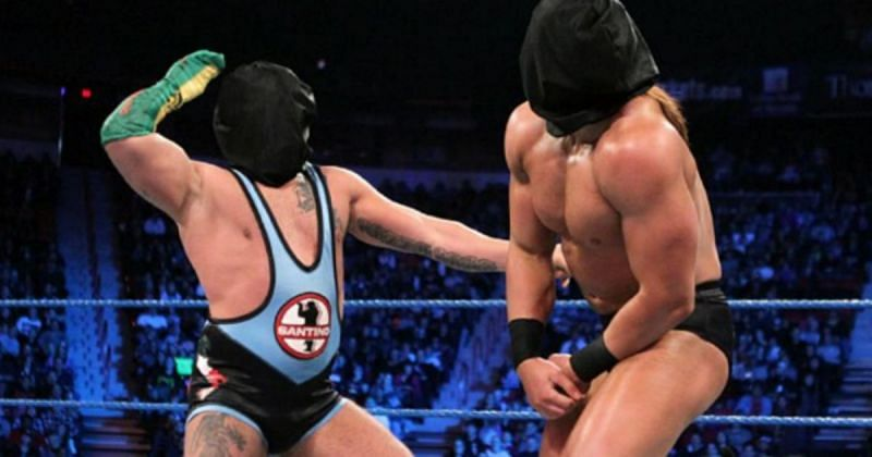 Santino Marella vs. Drew McIntyre in a Blindfold match.
