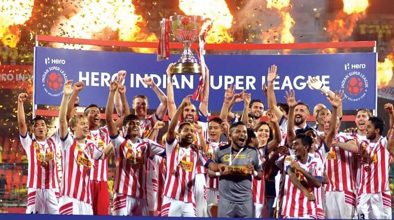 ATK beat Kerala Blasters in a penalty shootout in Kochi (Picture credit: Deccan Chronicle)