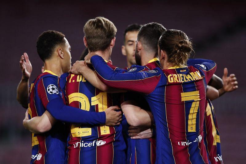 Barcelona edged past Dynamo Kyiv