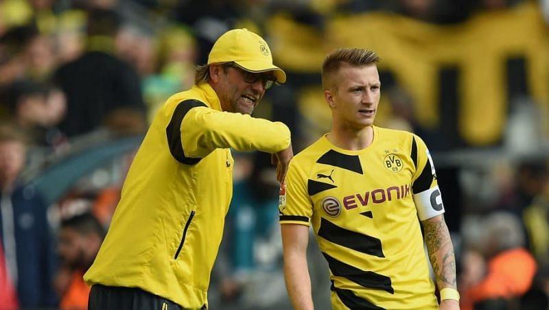 Marco Reus (right) with Jurgen Klopp