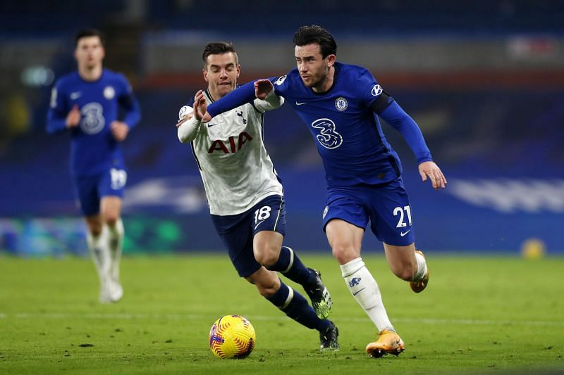 Chilwell in action for Chelsea