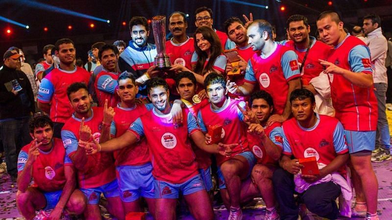 Jaipur Pink Panthers were the first ever champions of the Pro Kabaddi League.