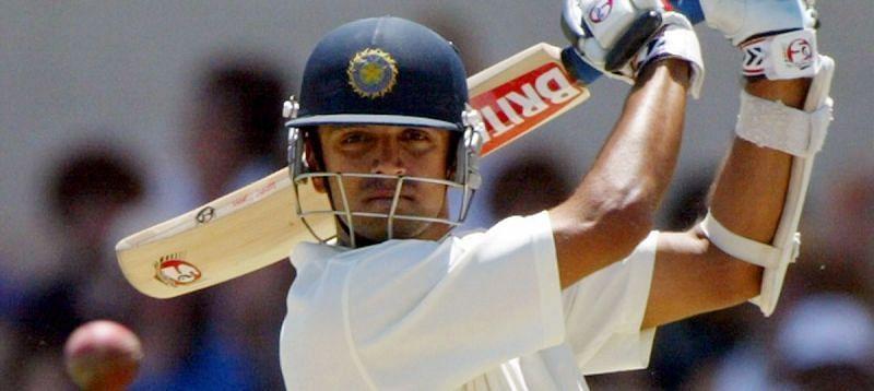 Rahul Dravid during his knock of 233 against Australia