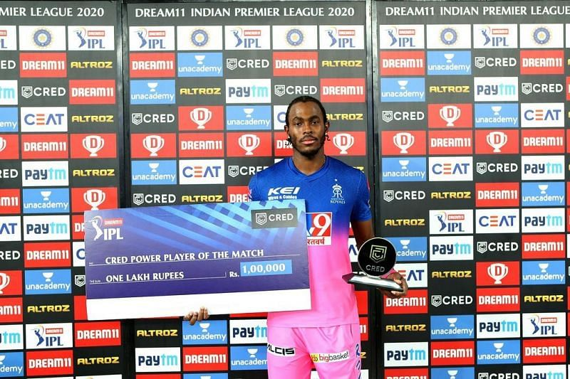 Jofra Archer had a brilliant season but lacked support from the other bowlers. (Photo credit: IPLT20)