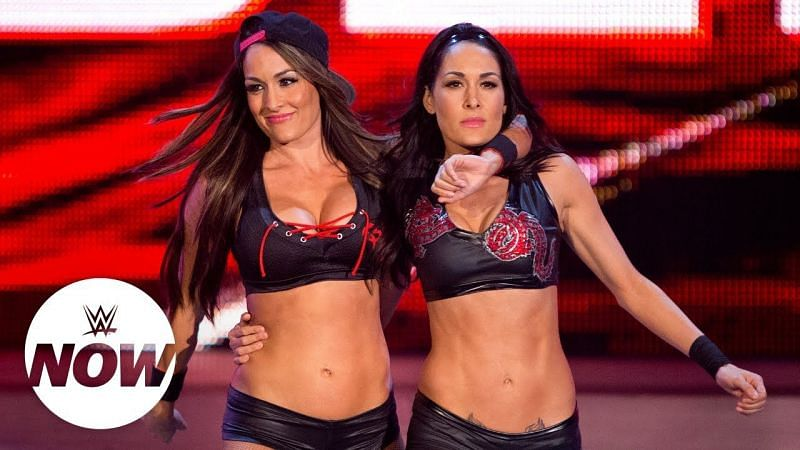 The Bella twins call out the Tag Champs