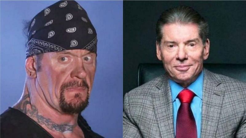 The Undertaker (left); Vince McMahon (right)