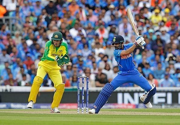 Virat Kohli in action against the Aussies.