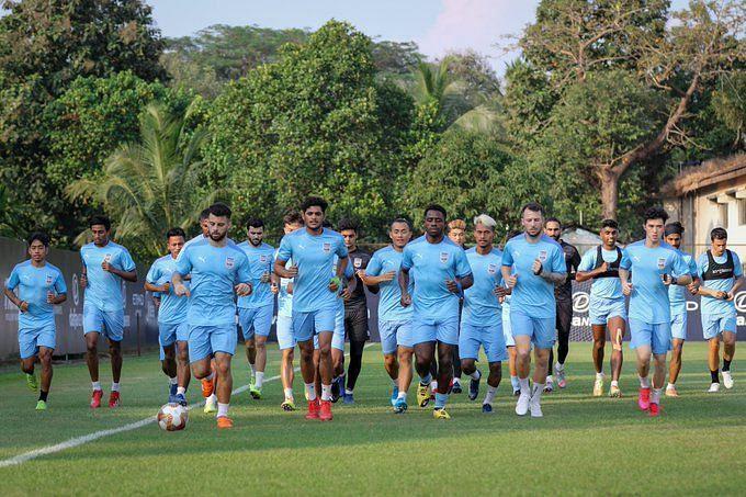 Mumbai City FC players in training