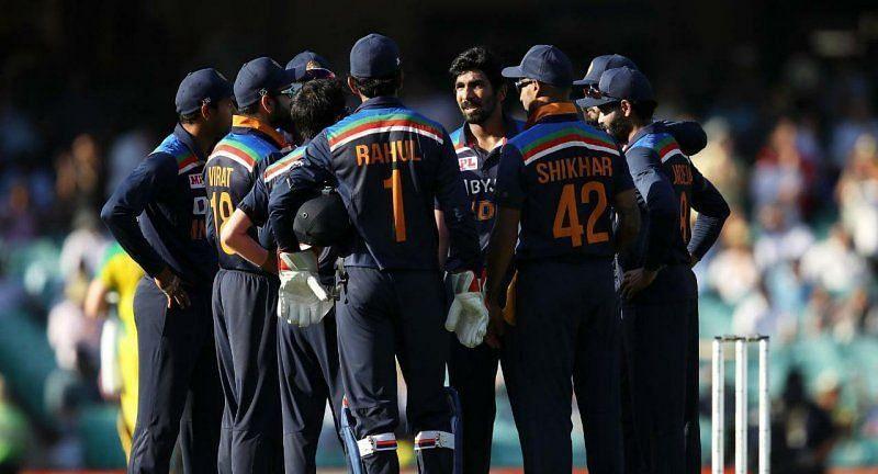 Jasprit Bumrah with teammates. Pic: Virat Kohli/Twitter