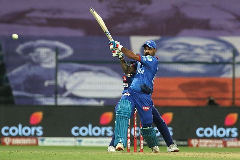 Shikhar Dhawan smashed an unbeaten 52-ball 69 against MI earlier this season (Credits: IPLT20.com)