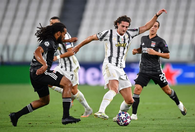 Adrien Rabiot (centre) in action for Juventus