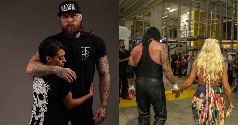Aleister Black, Zelina Vega, The Undertaker, and Michele McCool.