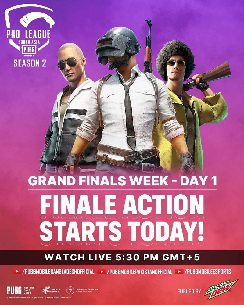 PMPL South Asia Season 2 Grand Finals Day 1