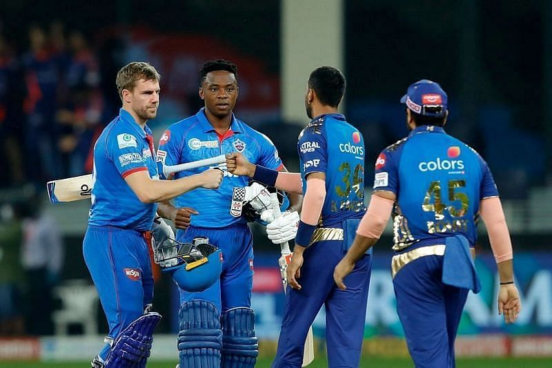 Mumbai Indians vs Delhi Capitals in IPL 2020 final. Pic: IPLT20.COM