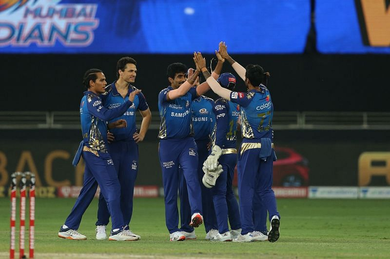 Jasprit Bumrah was awarded the Man of the Match for his career-best figures of 4/14 [courtesy: iplt20.com]