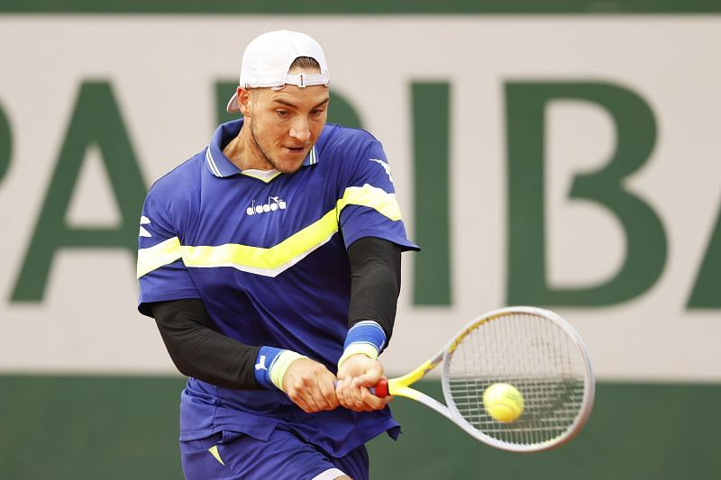 Jan-Lennard Struff at the 2020 French Open