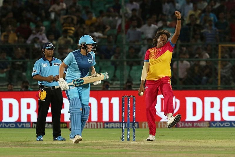 Jhulan Goswami will lead the bowling attack for the Trailblazers. Image Credits - IPL