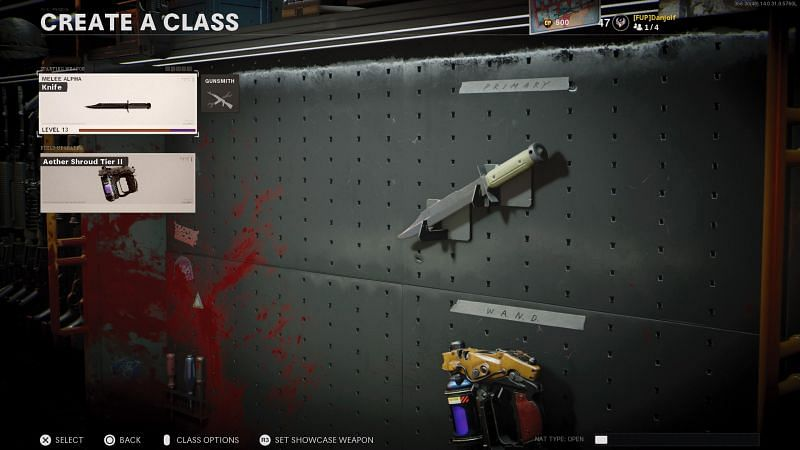 The knife is the most useful tool at the start of Black Ops Cold War Zombies (Image via Treyarch)