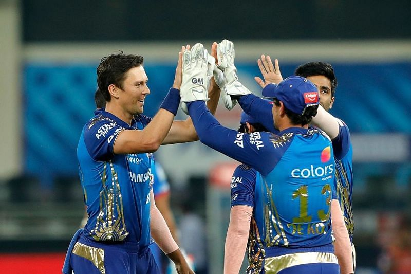 Trent Boult celebrating a wicket in the Qualifier 1 [Image Courtesy: iplt20.com]