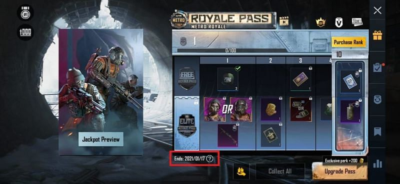 End date of the current Royale Pass