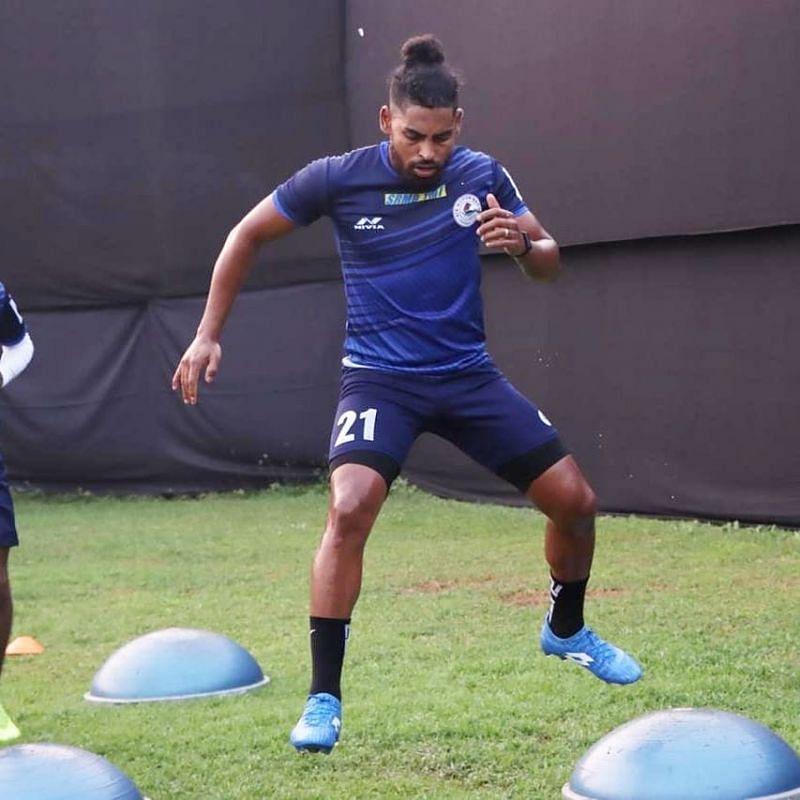 Roy Krishna training at Goa ahead of ISL. (Image Courtesy: Twitter/@RoyKrishna21)