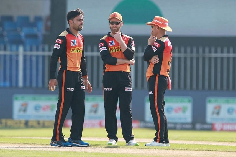 David Warner, Kane Williamson, and Rashid Khan were integral members of the Sunrisers Hyderabad squad in IPL 2020 (Image Credits: IPLT20.com)