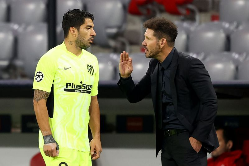 Luis Suarez and Diego Simeone