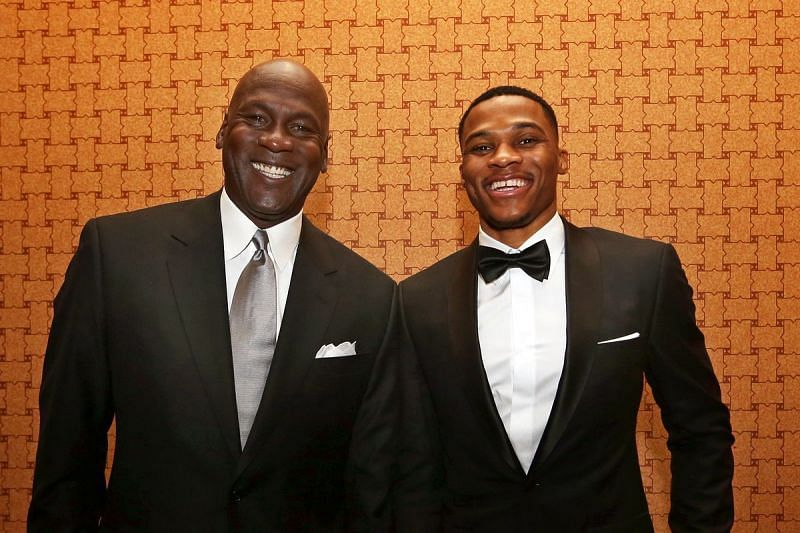 Michael Jordan and Russell Westbrook